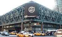 The Port Authority Bus Terminal, the world's busiest bus station, at 8th Avenue and 42nd Street.
