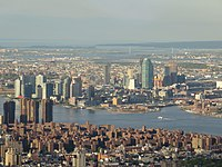 The growing skyline of Long Island City, Queens,<ref>{{cite web url=https://www.bloomberg.com/news/articles/2018-10-30/nyc-s-fastest-growing-neighborhood-gets-180-million-investment title=NYC's Fastest-Growing Neighborhood Gets $180 Million Investment author=Henry Goldman date=October 30, 2018 publisher=Bloomberg, L.P access-date=October 30, 2018}}</ref> facing the East River in May 2017