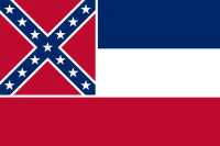 The previous flag of Mississippi, used until June 30, 2020, featured the Confederate battle flag