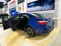 2014 Corolla built by Toyota Motor Manufacturing Mississippi on display at the Tupelo Automobile Museum