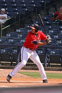 Mississippi Braves outfielder Cody Johnson at Trustmark Park