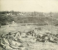 Confederate dead after the Battle of Corinth, October 5, 1862