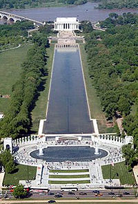 The Committee of 100 on the Federal City unsuccessfully opposed siting the National World War II Memorial in the center of the National Mall.