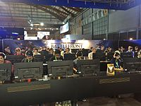 A group of 30 attendees at the EB Games Expo 2015 play a match on a single server in Star Wars Battlefront.