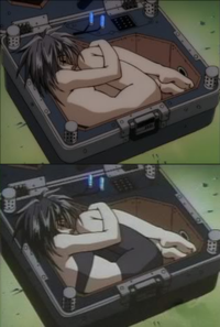 Outlaw Star was edited by Cartoon Network (bottom) to cover up instances of nudity featured in the Japanese version (top).