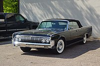 1964 Lincoln Continental convertible (top raised)