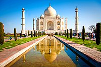 Taj Mahal in Agra is one among the New7Wonders of the World