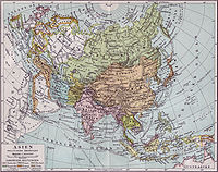 1890 map of Asia