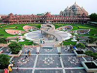 The Swaminarayan Akshardham Temple in Delhi, according to the Guinness World Records is the World's Largest Comprehensive Hindu Temple