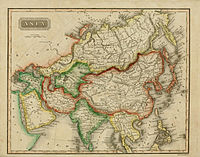 1825 map of Asia by Sidney Edwards Morse.