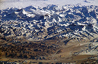 The Himalayan range is home to some of the planet's highest peaks.