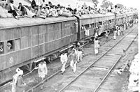 A refugee special train in Ambala, Punjab during the partition of India in 1947