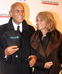 Belafonte with third wife Pamela in April 2011