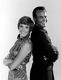 With Julie Andrews on the NBC special An Evening with Julie Andrews and Harry Belafonte (1969)