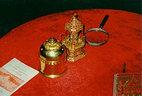 Relics of the Buddha from the ruins of the Kanishka stupa at Peshawar – now in Mandalay, Myanmar