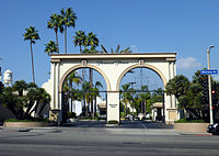 Paramount Pictures' studio lot in Hollywood (Melrose Gate entrance)