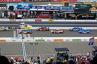 The drivers on a parade lap before the Toyota/Save Mart 350