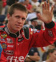 Carl Edwards came in second behind Johnson by 69 points.