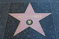 Streep's star on the Hollywood Walk of Fame