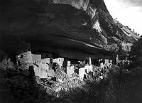 Ruins of Cliff Palace at Mesa Verde National Park. Photo by Gustaf Nordenskiöld, 1891