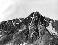Mount of the Holy Cross, photographed by William Henry Jackson in 1874