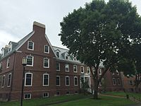 Stratton Hall, a downhill residence hall