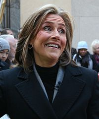 Meredith Vieira, American journalist, talk show and game show host (BA, 1975)