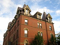West Hall, an uphill residence hall