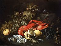 Artistic vision: Still Life with Lobster and Oysters by Alexander Coosemans, c. 1660