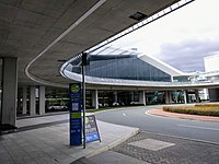 The ACTION bus stop at Canberra Airport