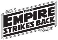 The Empire Strikes Back logo, version featuring a Star Wars referencing frame