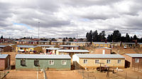 Houses in Soweto constructed under the RDP program