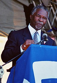 In the latter part of his presidency, Mandela increasingly relied on his Deputy President, Thabo Mbeki (pictured)