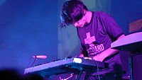 Jonny Greenwood has used a variety of instruments, such as this glockenspiel, in live concerts and recordings.