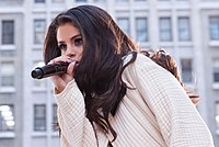 Gomez performing on The Today Show in 2015