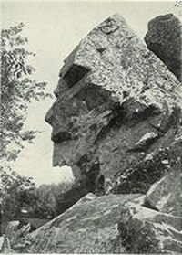 This photo from a 1902 postcard shows Assonet's Profile Rock.