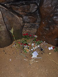 Offerings placed inside the chamber of West Kennet Long Barrow