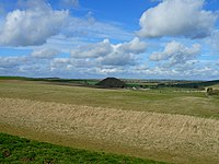 View of Silbury Hill from West Kennet Long Barrow