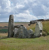 The stones at the entrance to the chamber in West Kennet Long Barrow