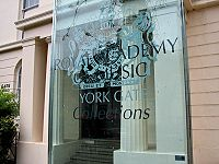 Elton John (known then as Reg Dwight) studied at the Royal Academy of Music in London for five years.