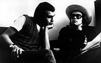 Elton John with Bernie Taupin (left) in 1971. They have collaborated on more than thirty albums to date.