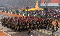 Indian Army's Para SF contingent marching at Republic Day Parade 2016.