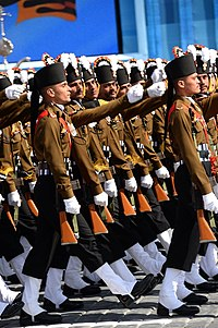 Contingent from the Indian Armed Forces at the Moscow Victory Day Parade, 2015