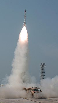 Launching of an advanced air defence (AAD) missile