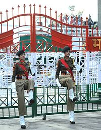 Women personnel of Border Security Force