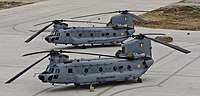 A CH-47F(I) helicopters of Indian Air Force at Air Force Station, Chandigarh