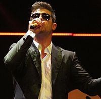 Thicke performing in December 2013