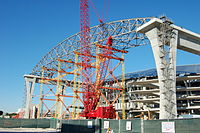 The site on November 6, 2010. The main center roof being constructed