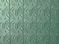 Pastel, Miami-Deco-influenced wall tiles in 4 main parking garages connect the facility to its small-scaled, Little Havana environs