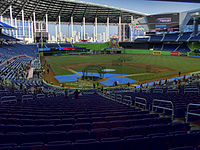 Marlins Park on the team's final workout day prior to Opening Night. The nationally televised game was filled with fanfare and people, but was also the only sellout produced by the stadium in 2012.
